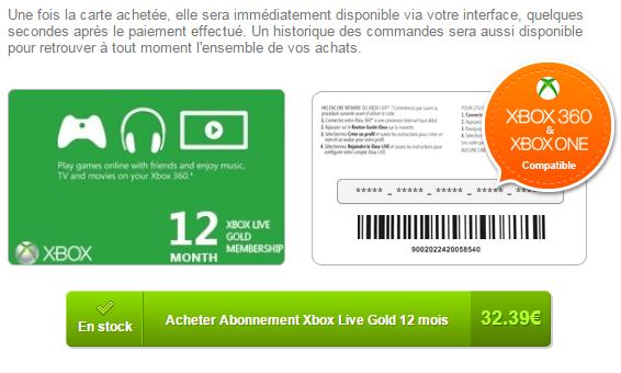 Abonnement Xbox One moins cher
